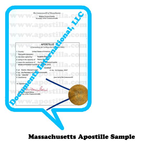 Massachusetts Apostille | Apostilla.com